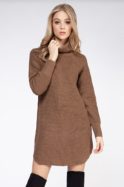 Dex TURTLENECK SWEATER DRESS - Product Mini Image