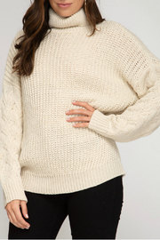 She and Sky Turtleneck Sweater Top - Product Mini Image