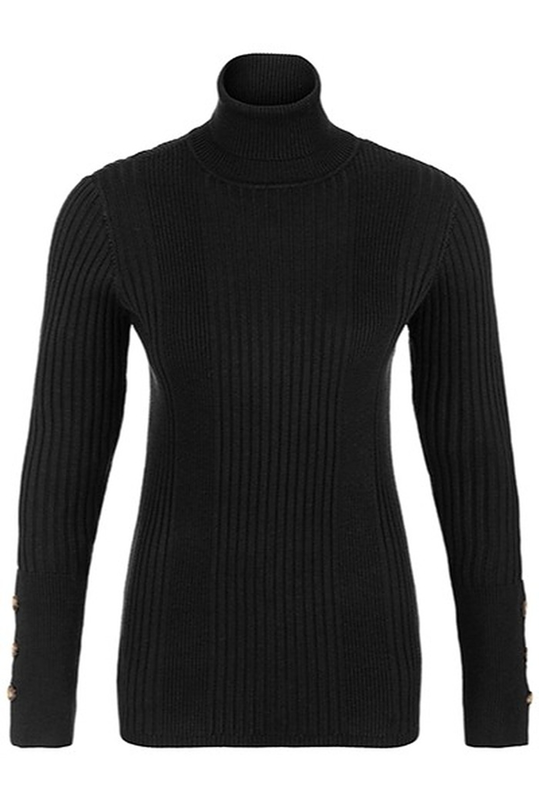 Tribal  Turtleneck With Button Sleeve - Main Image