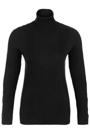Tribal  Turtleneck With Button Sleeve - Front cropped
