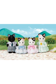 Calico Critters Tuxedo Cat Family - Front cropped