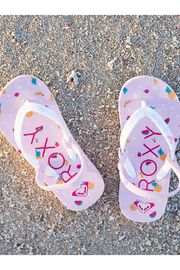 Roxy TW Pebbles Flip Flops With Backstrap - Front full body