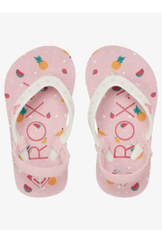 Roxy TW Pebbles Flip Flops With Backstrap - Front cropped