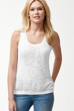 Shoptiques Product: TW414516 - Lea Embellished Tank Sweater in White