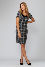 Joseph Ribkoff Tweed Dress - Front cropped