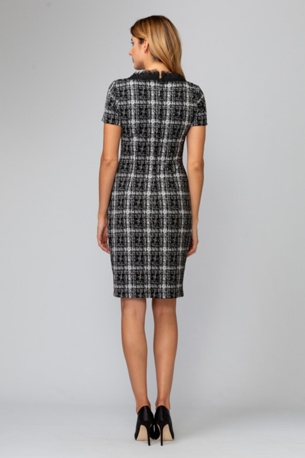 Joseph Ribkoff Tweed Dress - Back Cropped Image