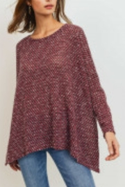 Lyn -Maree's Tweed Long Sleeve Open Side Top - Product Mini Image