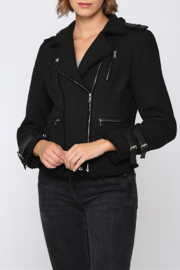 Fate Tweed moto jacket - Front cropped