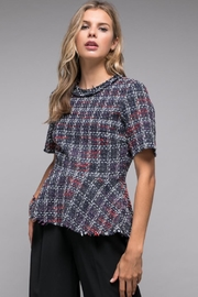 Do & Be Tweed Peplum Top - Product Mini Image