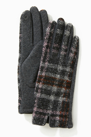 Look by M Tweed Plaid Gloves - Product Mini Image