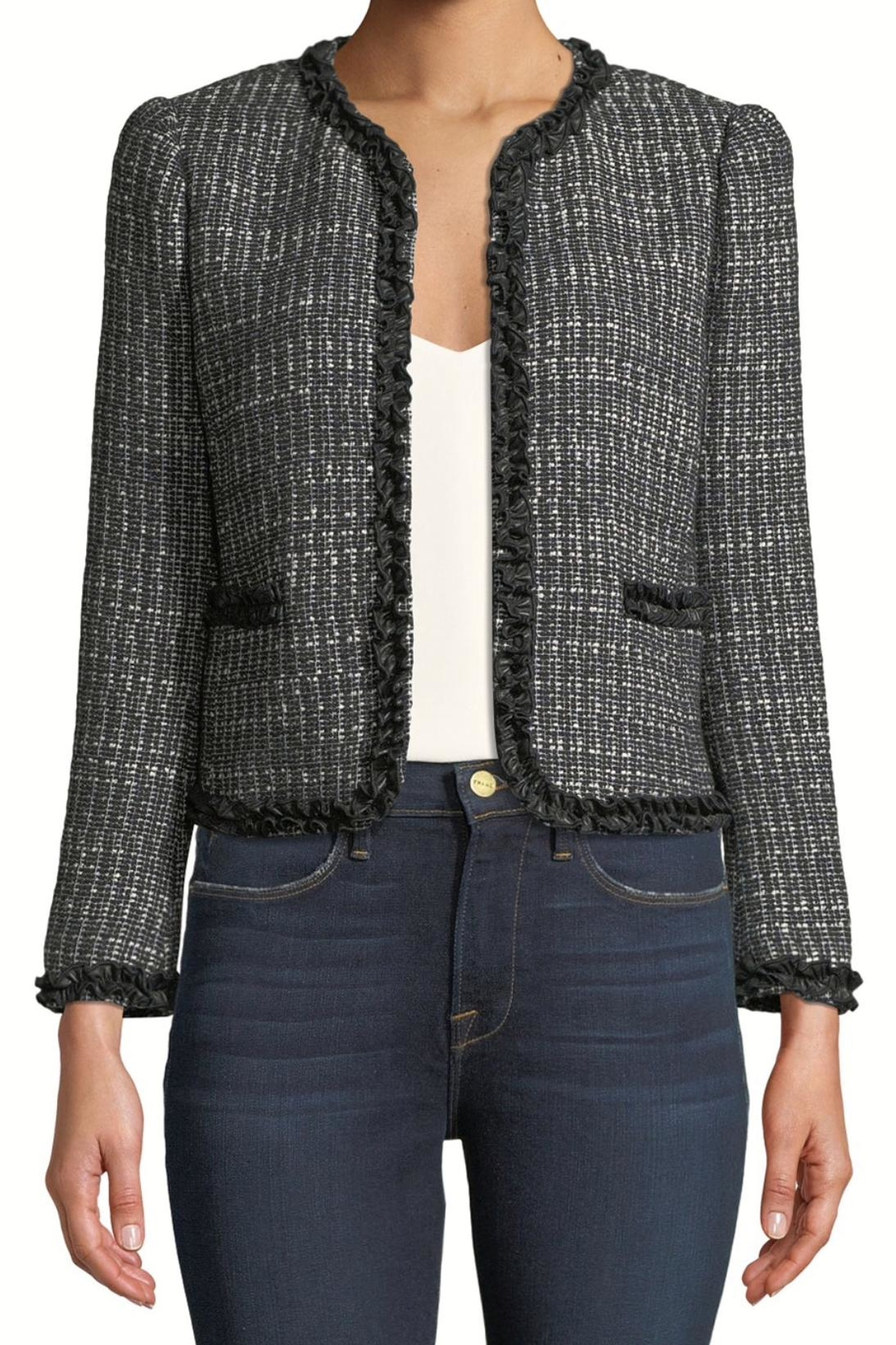 Rebecca Taylor Tweed Ruffle Jacket - Front Cropped Image