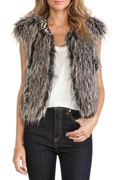 Twelfth Street by Cynthia Vincent Faux Fur Vest - Product List Image