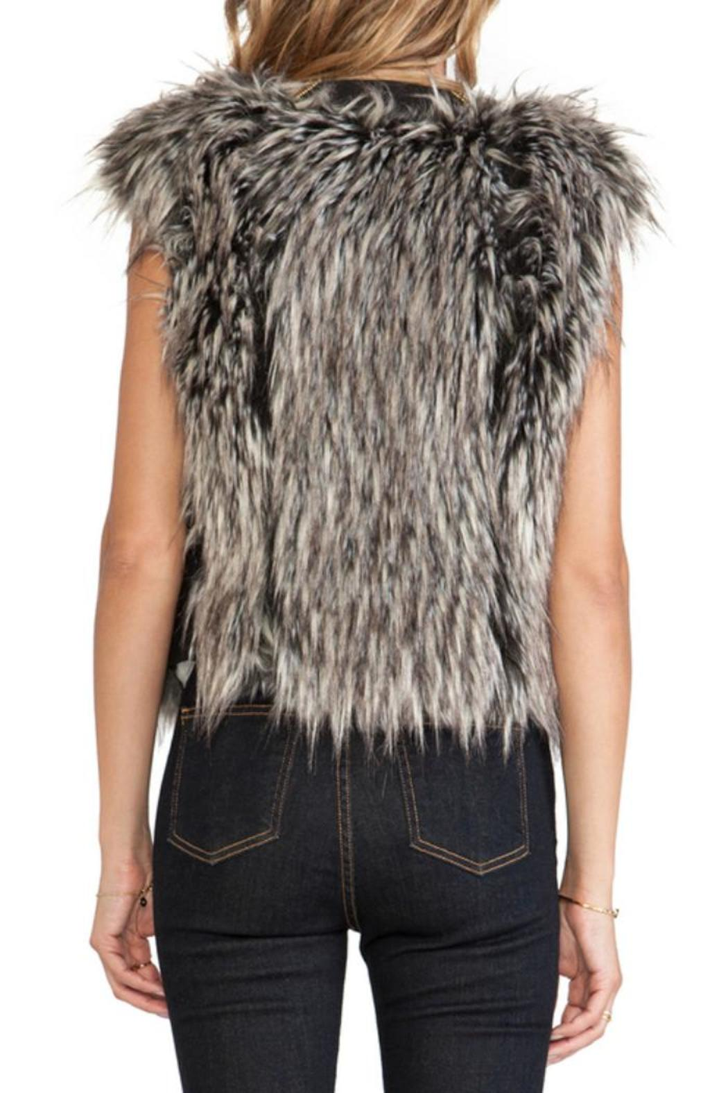 Twelfth Street by Cynthia Vincent Faux Fur Vest - Side Cropped Image