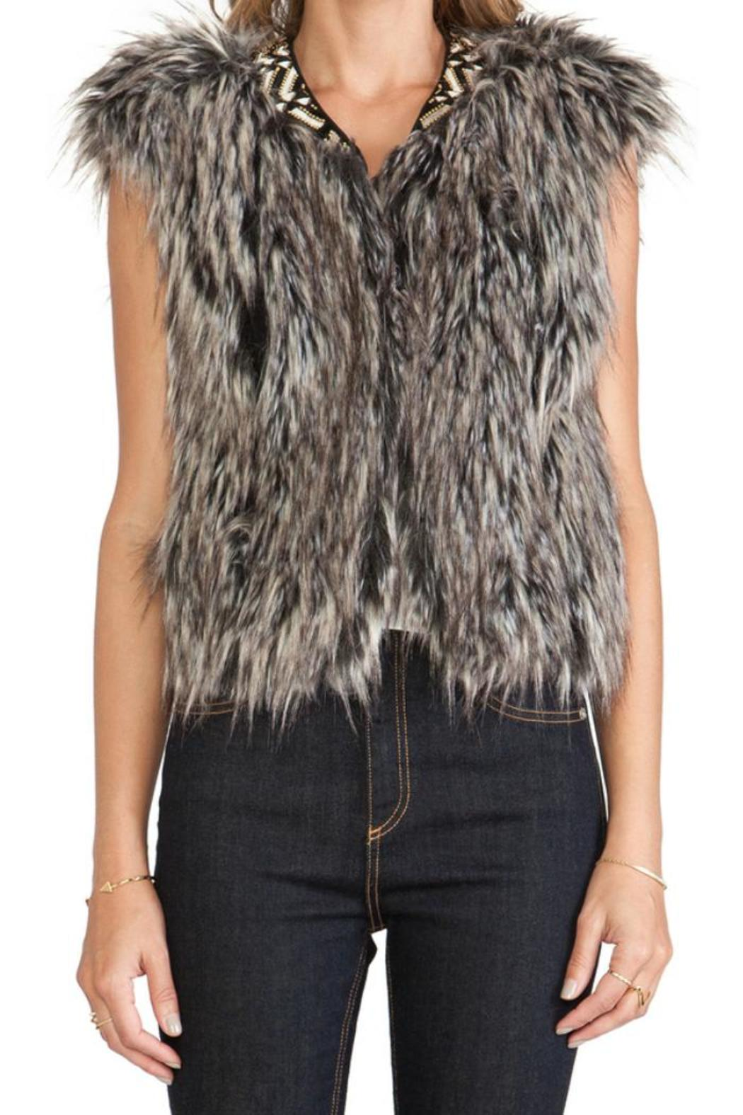 Twelfth Street by Cynthia Vincent Faux Fur Vest - Back Cropped Image