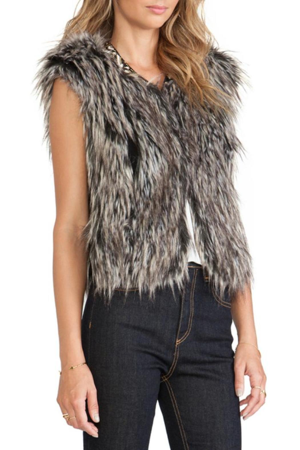 Twelfth Street by Cynthia Vincent Faux Fur Vest - Front Full Image