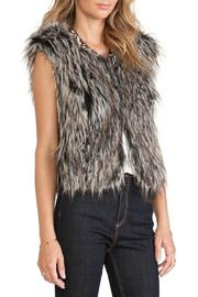 Twelfth Street by Cynthia Vincent Faux Fur Vest - Front full body
