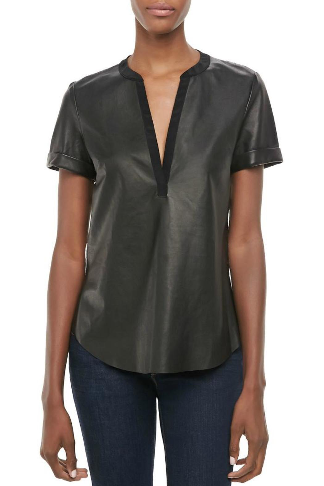 Twelfth Street by Cynthia Vincent Faux Leather Henley - Main Image