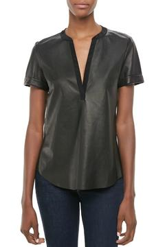 Twelfth Street by Cynthia Vincent Faux Leather Henley - Product List Image