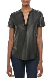 Twelfth Street by Cynthia Vincent Faux Leather Henley - Product Mini Image