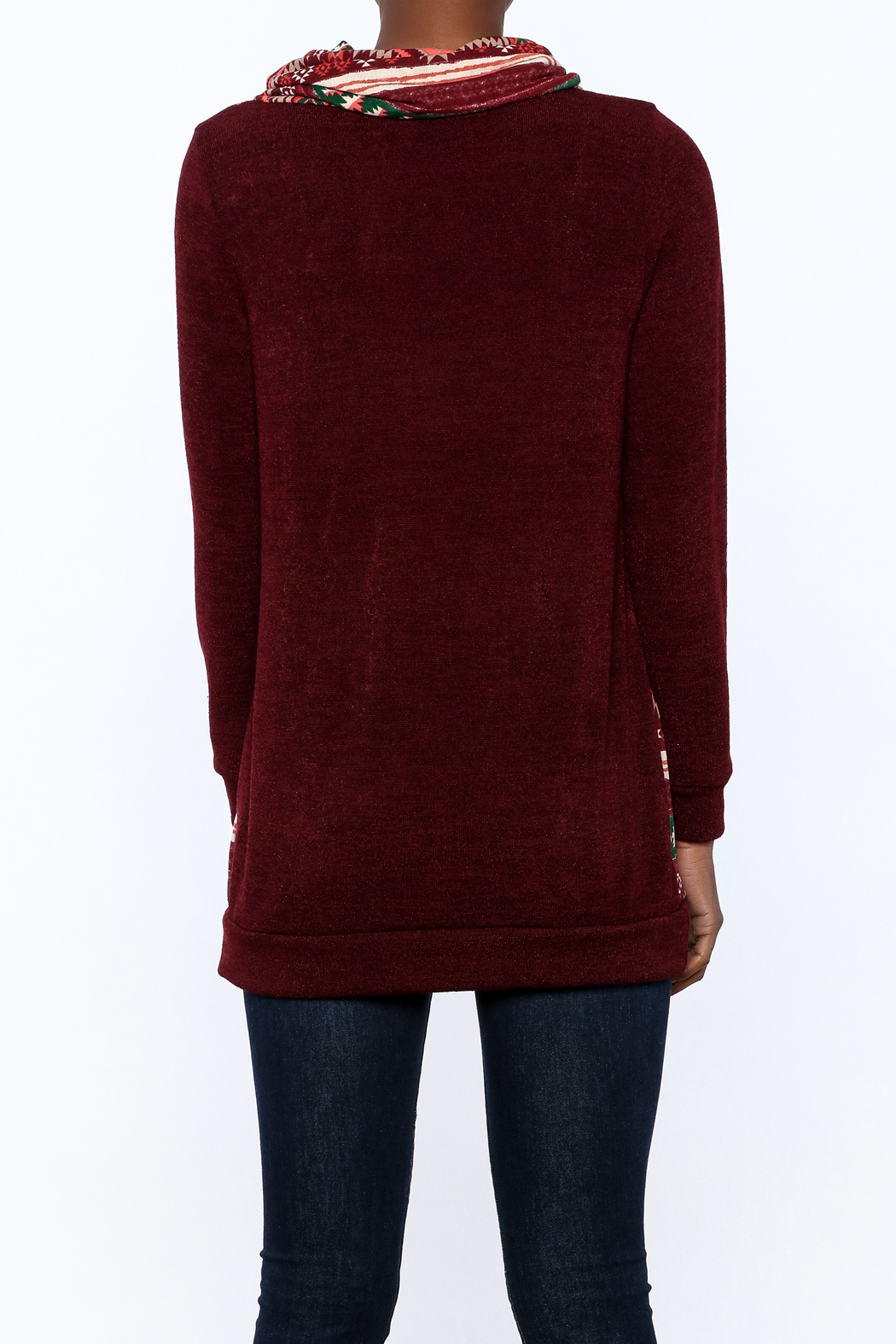 Twenty Second Burgundy Tribal Hoodie from Minnesota by Bela Va ...