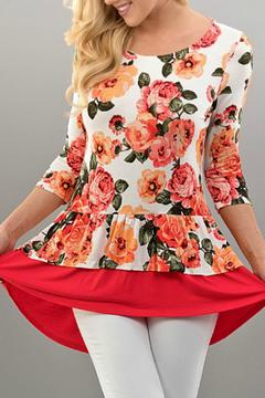 Twenty Second Floral Ruffle Top - Product List Image