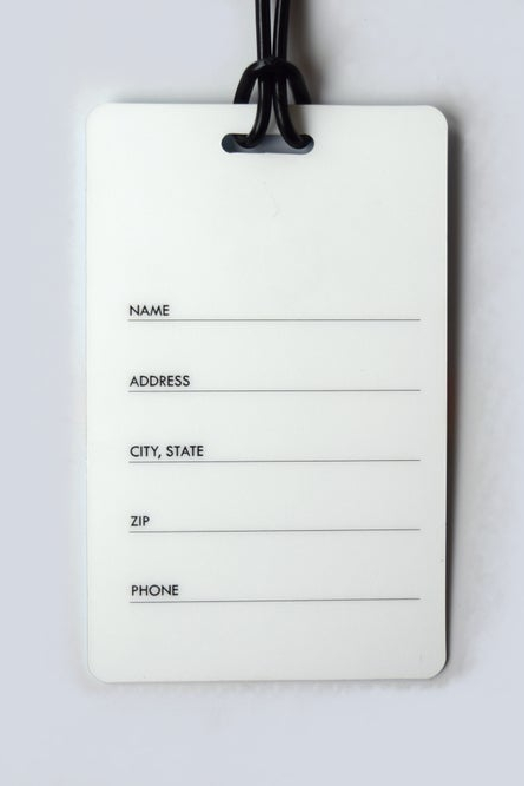 He Said, She Said Twice a Year Luggage Tag - Front Full Image