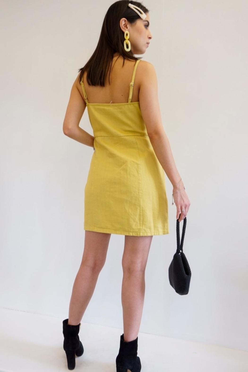 Renamed Clothing Twiggy Button Dress - Front Full Image