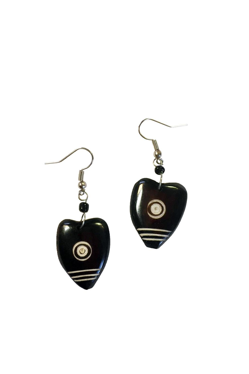 Twigz Heart Earrings - Front Cropped Image
