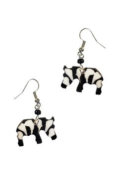 Shoptiques Product: Zebra Earrings
