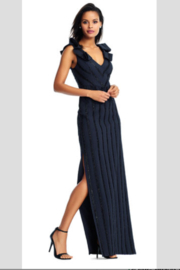 Aidan Mattox Twilight Lines Gown in Navy - Product Mini Image