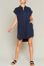 Thread & Supply Twilight Shirt Dress - Front cropped