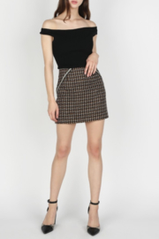 Skies Are Blue Twill Mini Skirt - Product Mini Image