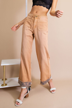 easel  Twill Pants w/ Detail Bottom - Product List Image
