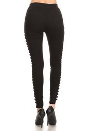 Color 5 Twilled Fabric Fashion-Pants - Front full body