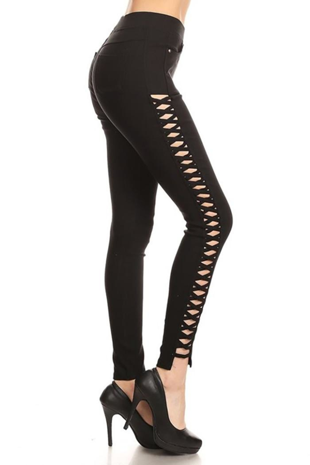Color 5 Twilled Fabric Fashion-Pants - Side Cropped Image