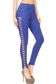 Color 5 Twilled Fabric Fashion-Pants - Front cropped