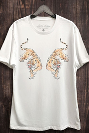 Lotus Fashion Twin Tiger Graphic Tee - Front cropped