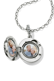Brighton Twinkle Small-Round Locket-Necklace - Front full body