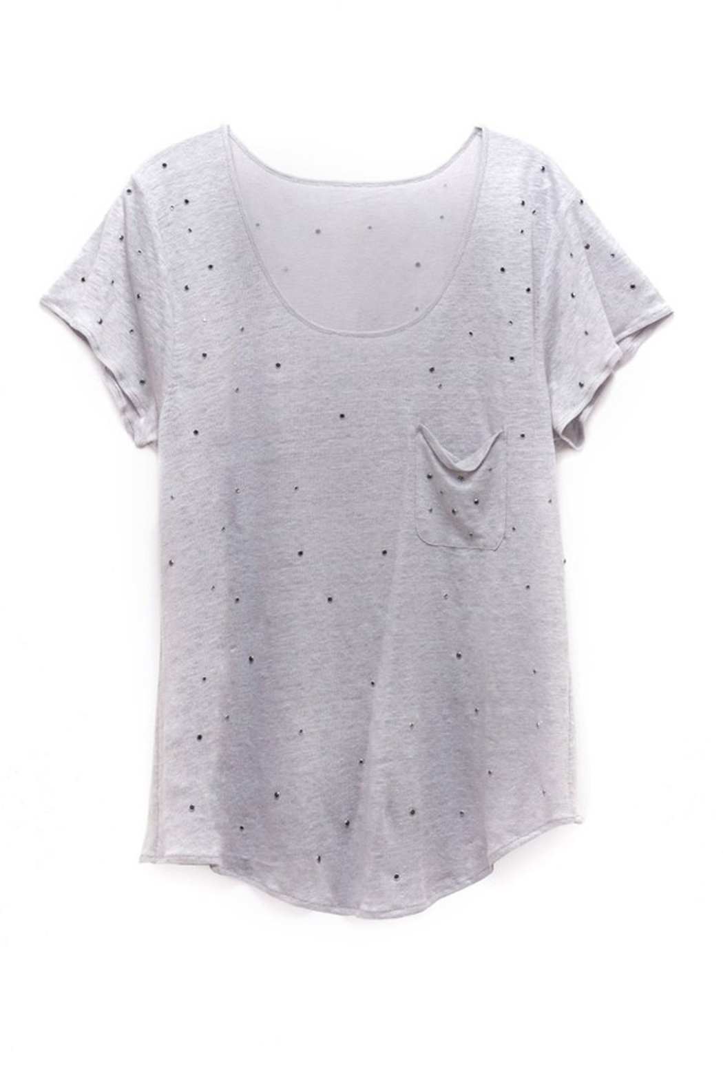 AS by DF TWINKLE STUDDED TEE - Front Full Image
