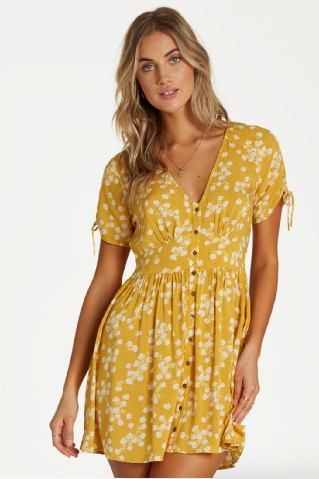 Billabong Twirl Twist Dress - Front Cropped Image