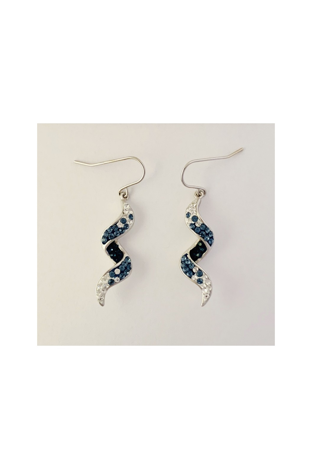 Presco TWIRL WAVE WIRE EARRINGS WITH CRYSTAL ELEMENTS - Main Image