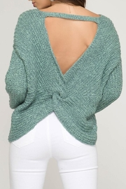 She + Sky Twist Back Sweater - Product Mini Image