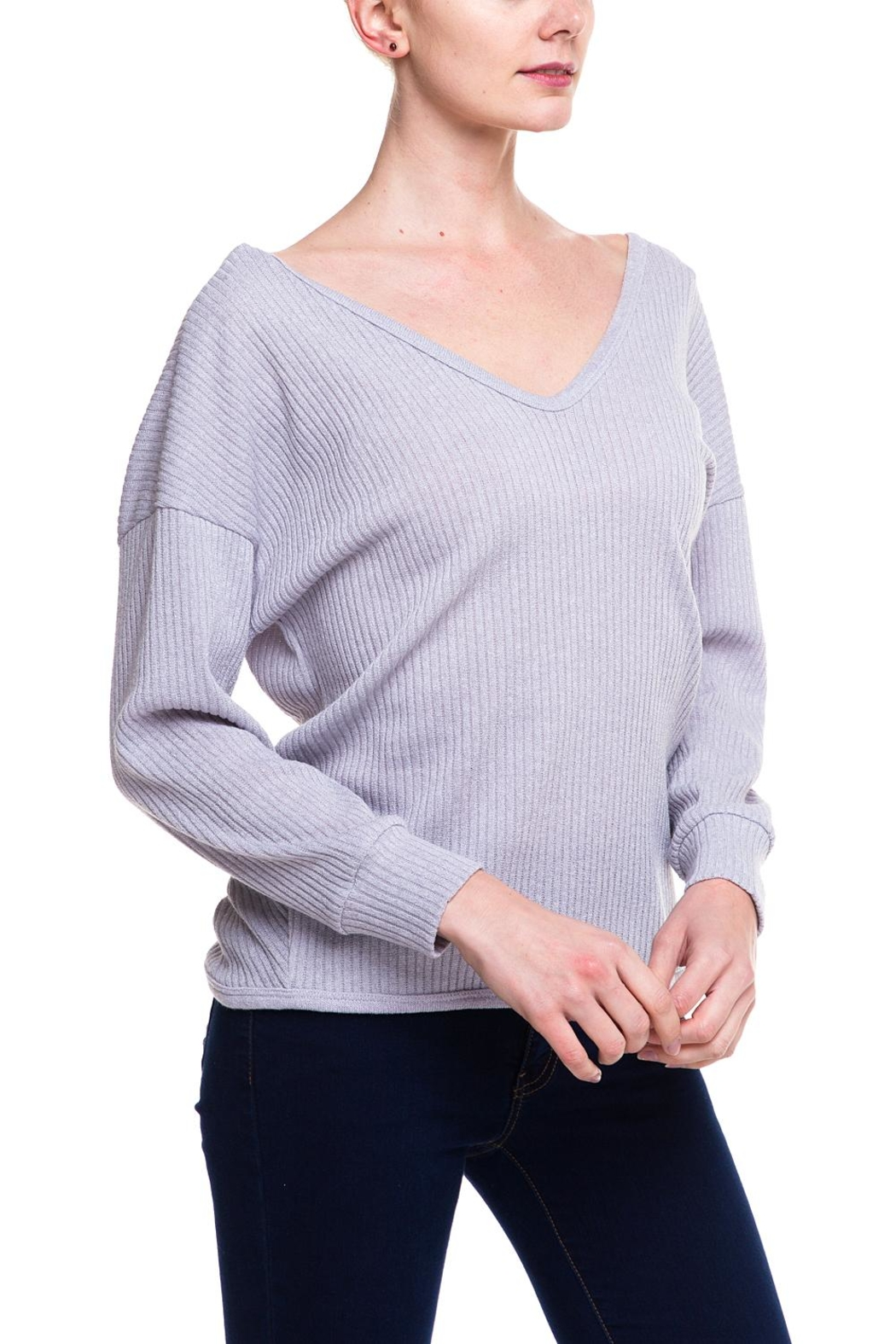 Style Rack Twist Back Sweater - Side Cropped Image