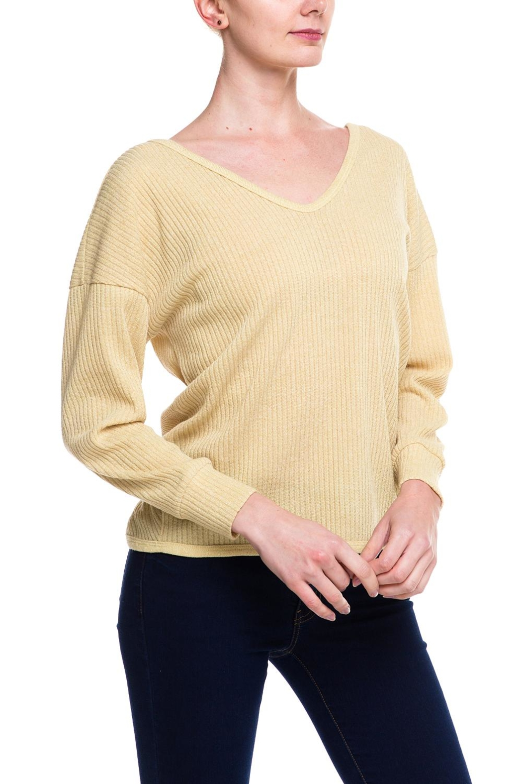 Style Rack Twist Back Sweater - Front Full Image