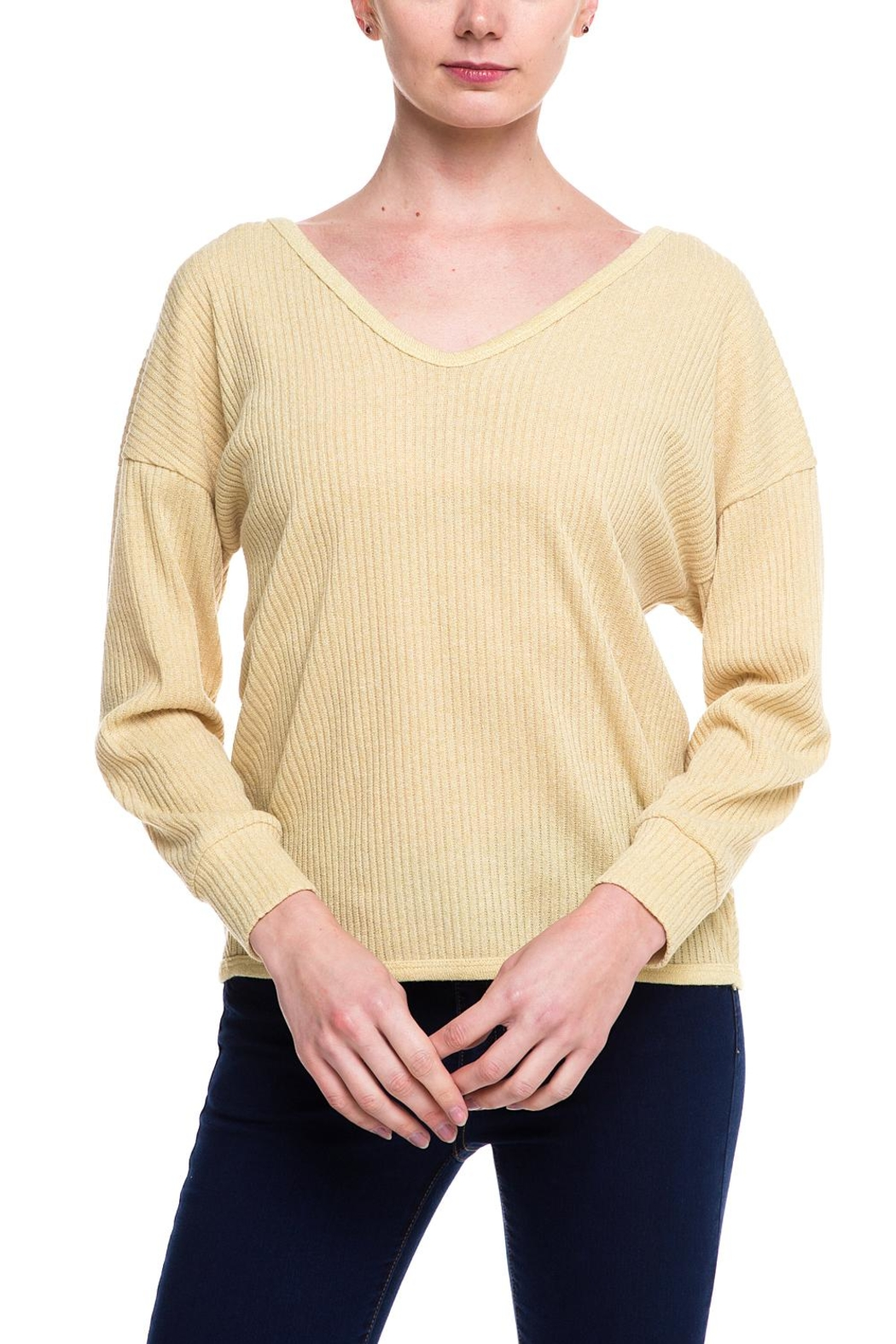 Style Rack Twist Back Sweater - Front Cropped Image