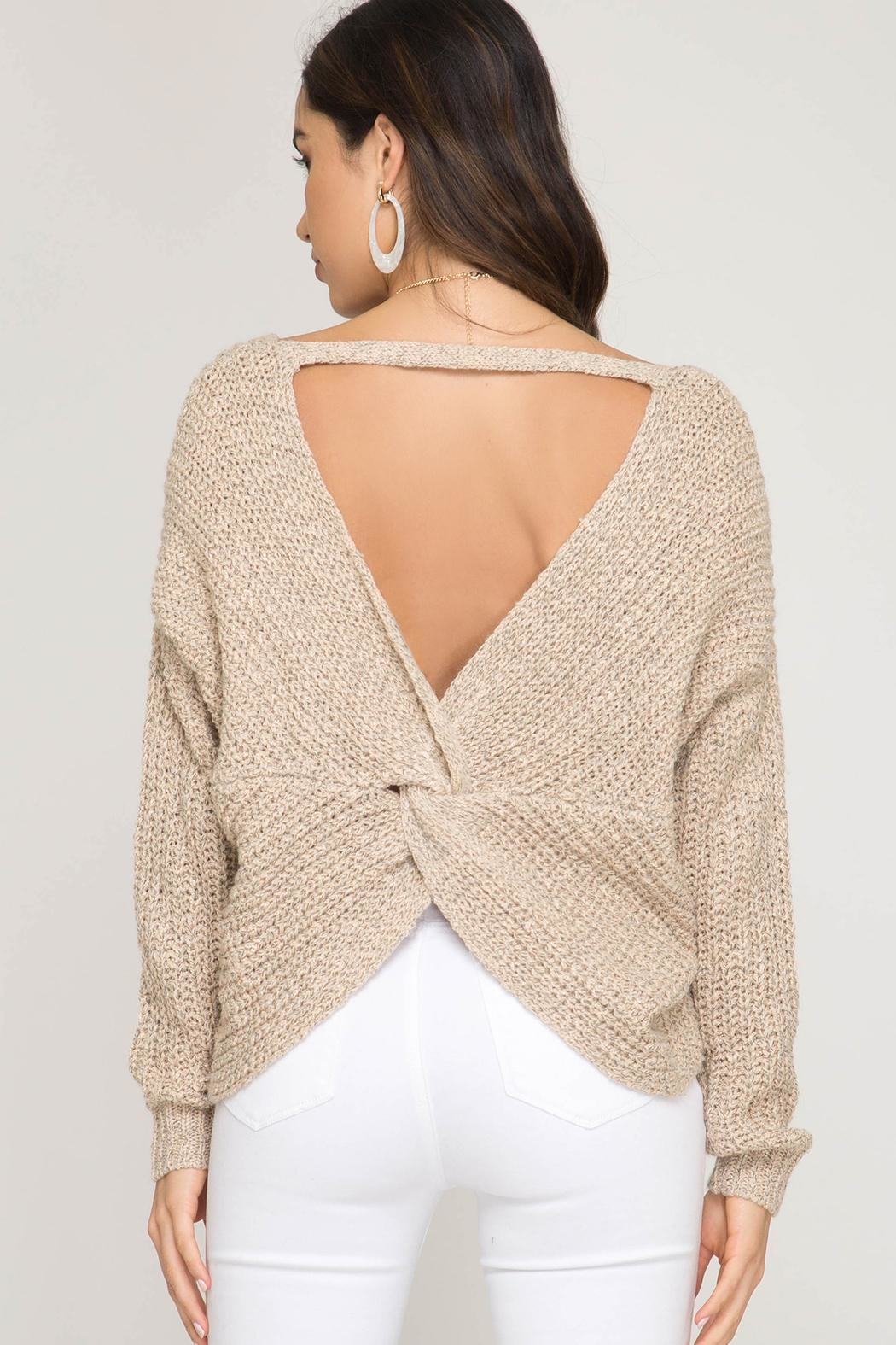 52fee2be56 She + Sky Twist Back Sweater from Florida by Dressing Room Boutique ...