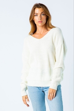 Shoptiques Product: Twist Back Sweater
