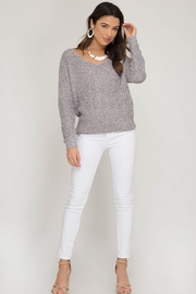 She + Sky Twist Back Sweater - Other