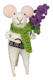 Twist Be.You.Tiful Felted Mouse - Front cropped
