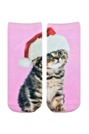 Twist Christmas Kitten Socks - Product Mini Image